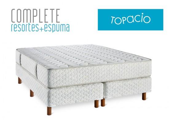 Colchon y Sommier Topacio Complete 2 plazas | Sommier&Colchon.com